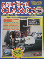 Practical Classics magazine June 06/1983 featuring Ford Capri RS3100, Jaguar