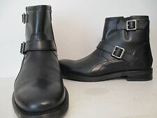 GBX Mens Bradock Leather Double Strap Side Zipper Casual Boots Black Size 11 M