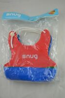 3pack Snug Baby Bibs - Waterproof Silicone - FDA Approved [red/green/blue]
