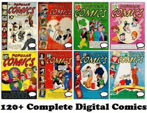 Popular Comics #1 – 145 (1936-1947) incomplete run GOLD Age Digital 120+ comics