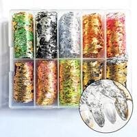 Nail Art Foil Lace Fragments Mesh Sequins Sticker Manicure Decal Decor Tool DIY