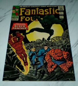 Fantastic Four #52 NM 9.4 OW pages 1966 Marvel 1st Black Panther