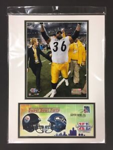 Jerome Bettis Pittsburgh Steelers Super Bowl XL 12x16 Matted Photo