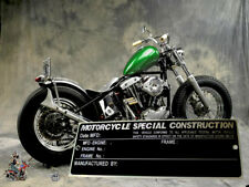 SPECIAL Construction FREE   CHOPPERS VIN Data PLATE Frame Chassis Bobber HARLEY