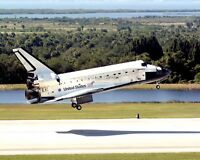 SPACE SHUTTLE DISCOVERY LANDING CONCLUDING STS-95 - 8X10 NASA PHOTO (EP-422)
