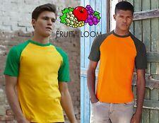 Stock 20 Pezzi Fruit of the Loom camiseta Baseball bicolor talla colores Scel