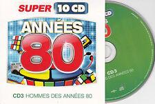 CD CARTONNE CARDSLEEVE ANNEES 80 HOMMES  15T LAHAYE/MADER/ROUSSOS/BLANC/MENEZ/PY