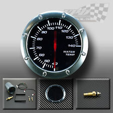 """WATER TEMP 52MM / 2"""" WHITE LED SMOKED FACE GAUGE FOR DASH OR POD HOLDER"""