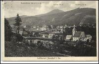 Jonsdorf Sachsen Postkarte 1930 Gesamtansicht mit Nonnenfelsen Lausche Buchberg