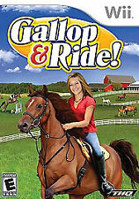 Gallop & Ride! NINTENDO WII pony horse own ranch , train groom stable game!,,NEW