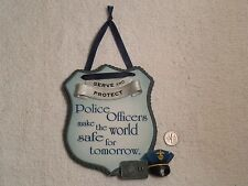 Enesco 2000 Signs Of The Times Wall Plaque ~ Serve and Protect ~ Police Officers