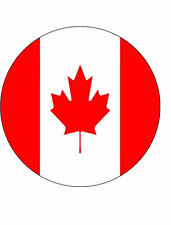 15x CANADA 40mm Rice Paper Cup Cake Fairy Toppers CANADIAN FLAG 4cm