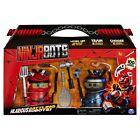 NINJABOTS 2 PACK SET HILARIOUS BATTLING ROBOTS WEAPONS RED & BLACK BOX