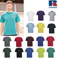 Russell Men's Super Ringspun Classic T-Shirt R-180M-0 - Short Sleeve Casual Tee