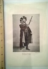 "HECTOR DUFRANNE ""FAUST"" Matzene Studio PHOTO PRINT FROM OLD 1910 BOOK OPERA STAR"
