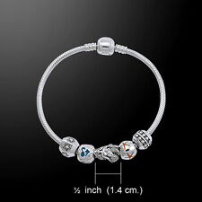 Mermaid .925 Sterling Silver Bead Bracelet by Peter Stone