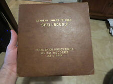 "1940's 10"" 33 1/3 Record: Score of Alfred Hitchcock's ""Spellbound"" RARE LP"