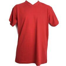 Kappa Robe Di Kappa Mens T Shirt Red Cotton Short Sleeve Logo V Neck Size M