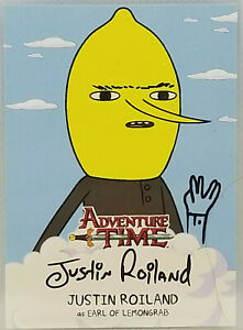 CRYPTOZOIC ADVENTURE TIME AUTO CARD #A1 JUSTIN ROILAND AS LEMONGRAB *SKETCHED*