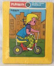 Vintage SEALED 1972 Play Tray Puzzle TRIKE HAPPY NEW Playskool