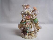 "Christmas Santa Father Christmas Figurine Tall  Wonderfully Detailed 10"""