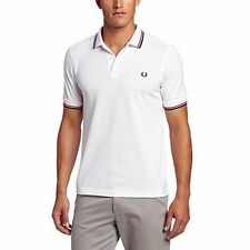 Fred Perry Short Sleeve 100% Cotton Casual Shirts for Men