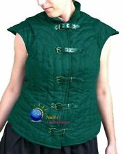 Medieval Thick padded FEMALE Gambeson Costumes dress VEST Aketon shirt SCA LARP
