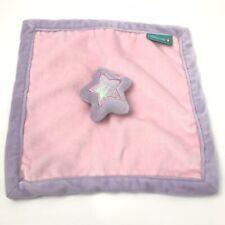 "Tiddliwinks Pink & Lavender Plush Star Lovey Security Blanket, 12""x12"""