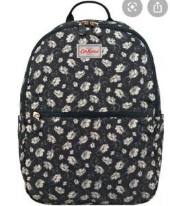 Cath Kidston Black Floral Foldaway Lightweight Bag Backpack Rucksack BNWT Bn