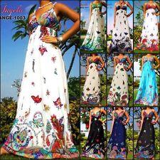 Polyester Paisley Plus Size Sleeveless Dresses for Women