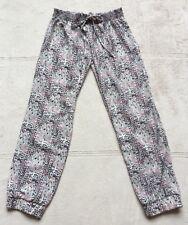 Vintage Havana Girls Jogger Pants, XL 12-14, Black White Pink, Elastic Waist