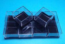 10 MM MICROMOUNT-Dosen schwarz  28x28x22 mm für Mineralien Fossilien / Kästchen