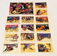 Set 15 USSR 1964 stickers matchbox Match labels. Dog DACHSHUND Space Hunting