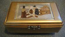 Vintage Lady Mate Gold Music Jewelry Box Speak Trinket Box Japan Geisha Girl
