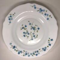 Lot14 De 6 Assiettes Creuses Arcopal France D 22,5 Cm Fleurs Bleues Myosotis