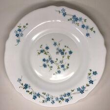 Lot13 De 6 Assiettes Creuses Arcopal France D 22,5 Cm Fleurs Bleues Myosotis