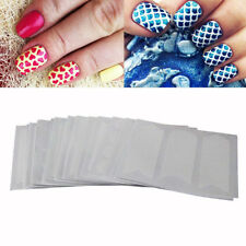 24 Sheets Nail Art Transfer Stickers 3D Design Manicure Tips Decorations White