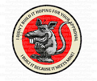 DIGITALLY PRINTED  STICKER/DECAL MY APPROVAL RAT FORD HOLDEN CHEV HOTROD RATROD