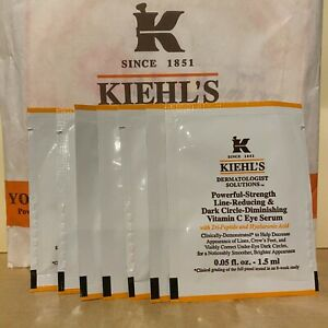 7 NEW Kiehl's Powerful-Strength Dark Circle Reducing Vitamin C Eye Serum 0.05 oz