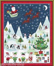 Adventskalender Makower Frosty Patchworkstoff Weihnachtsstoffe Weihnachten Stoff