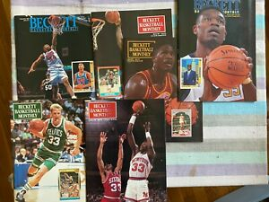 Collection of 6 Beckett Basketball Monthly Magazines 1991-1992
