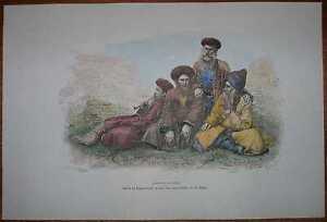 1881 Reclus print CAUCASUS JEWS (MOUNTAIN JEWS) (#7)