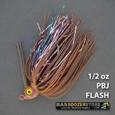 Bassdozer FLIP 'N SWIM jig. 1/2 oz PBJ FLASH weedless bass fishing jigs