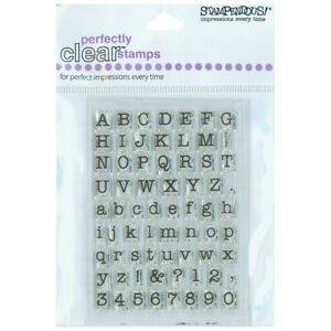 """Stampendous  Perfectly Clear Stamps 3""""X4""""-Small Typewriter Alphabet (2Pk)"""