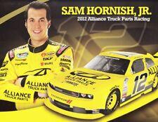 2012 Sam Hornish, Jr. Alliance Truck Parts Dodge Challenger NASCAR postcard