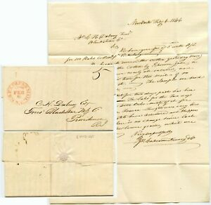 USA 1846 NEW YORK EXPRESS MAIL LETTER to DUBNEY RHODE ISLAND