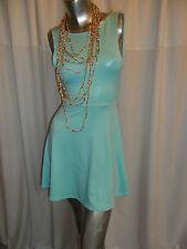 Uv vert menthe fluo skater clubwear/casual v dos ouvert mini robe 8-10