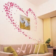 Pink Fower Wall Decor Large Huge Home Decoration Flowers  UK SELLER
