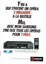 Publicité Advertising 087  1987   Samsung   magnétoscope lecteur compact-disc