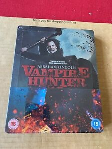 Abraham Lincoln Vampire Hunter (2012) 3D & 2D Blu ray Steelbook - New & Sealed